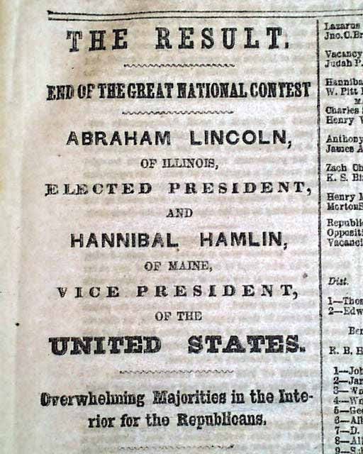 Lincoln's election date in Melbourne