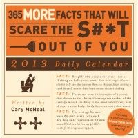 2013 Daily Calender 365 More Facts That Will Scare The S T Out Of