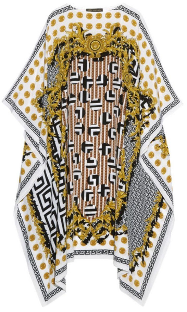 1bf12dc870 VERSACE KAFTAN | abaya caftan | Silk chiffon, Kaftan, Versace