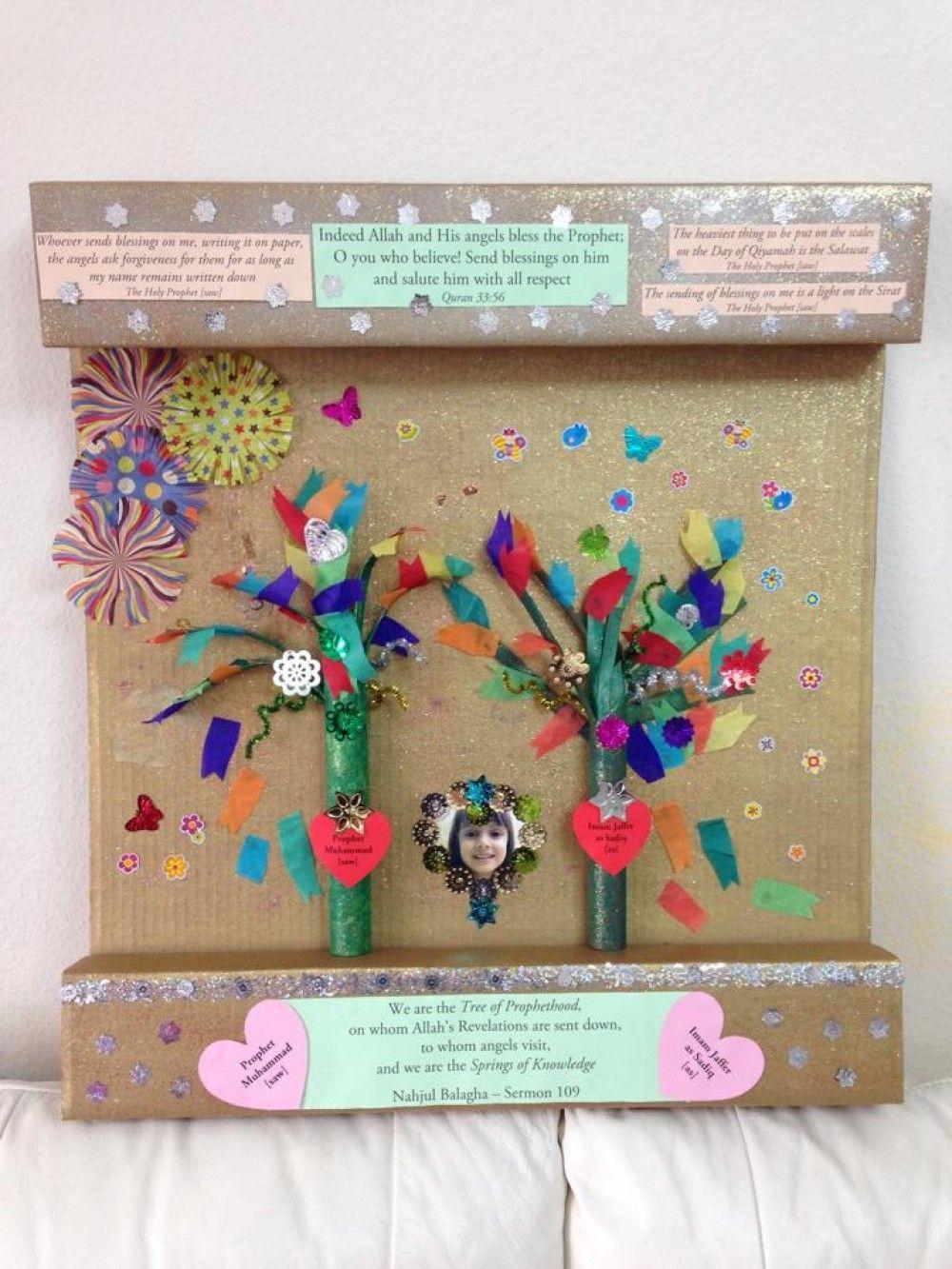 Prophet S Birthday Craft Idea Buzz Ideazz Prophet Muhammad Saw