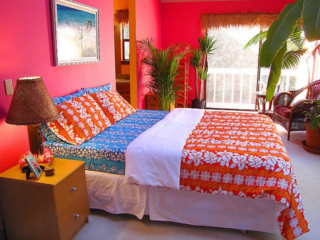 Hawaiian Print Comforters: My Sewing ~ Hawaiian Bed Set