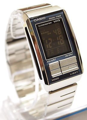 4137ab6e9 100% Original CASIO LA-201W-1 FUTURIST Digital Watch Black 100% Original