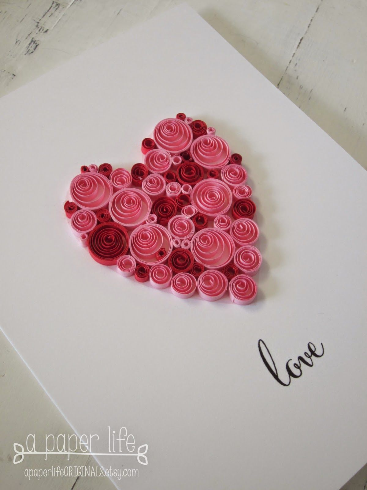 a paper life: love....quilled red & pink heart | Quilling ...