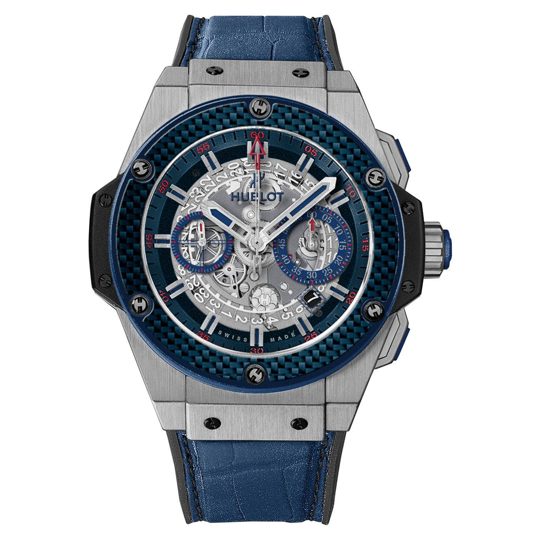 réplica del reloj Hublot King Power especial uno Azul Carbon