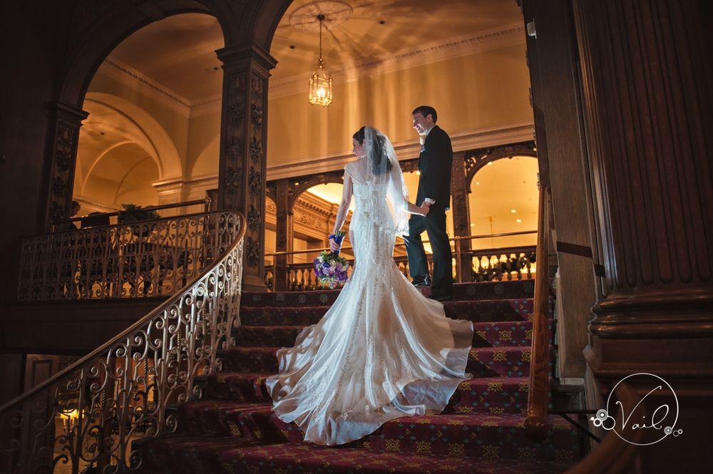 Fairmont Olympic Hotel Seattle Wedding Photographers Winter