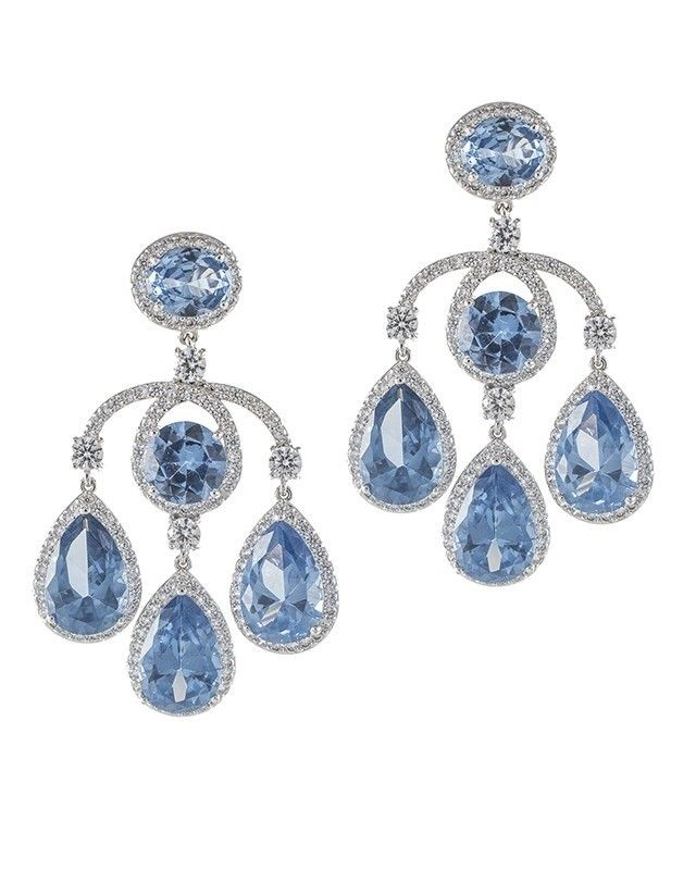 Aquamarine Chandelier Earrings Cz By Kenneth Jay Lane Jewelry Design