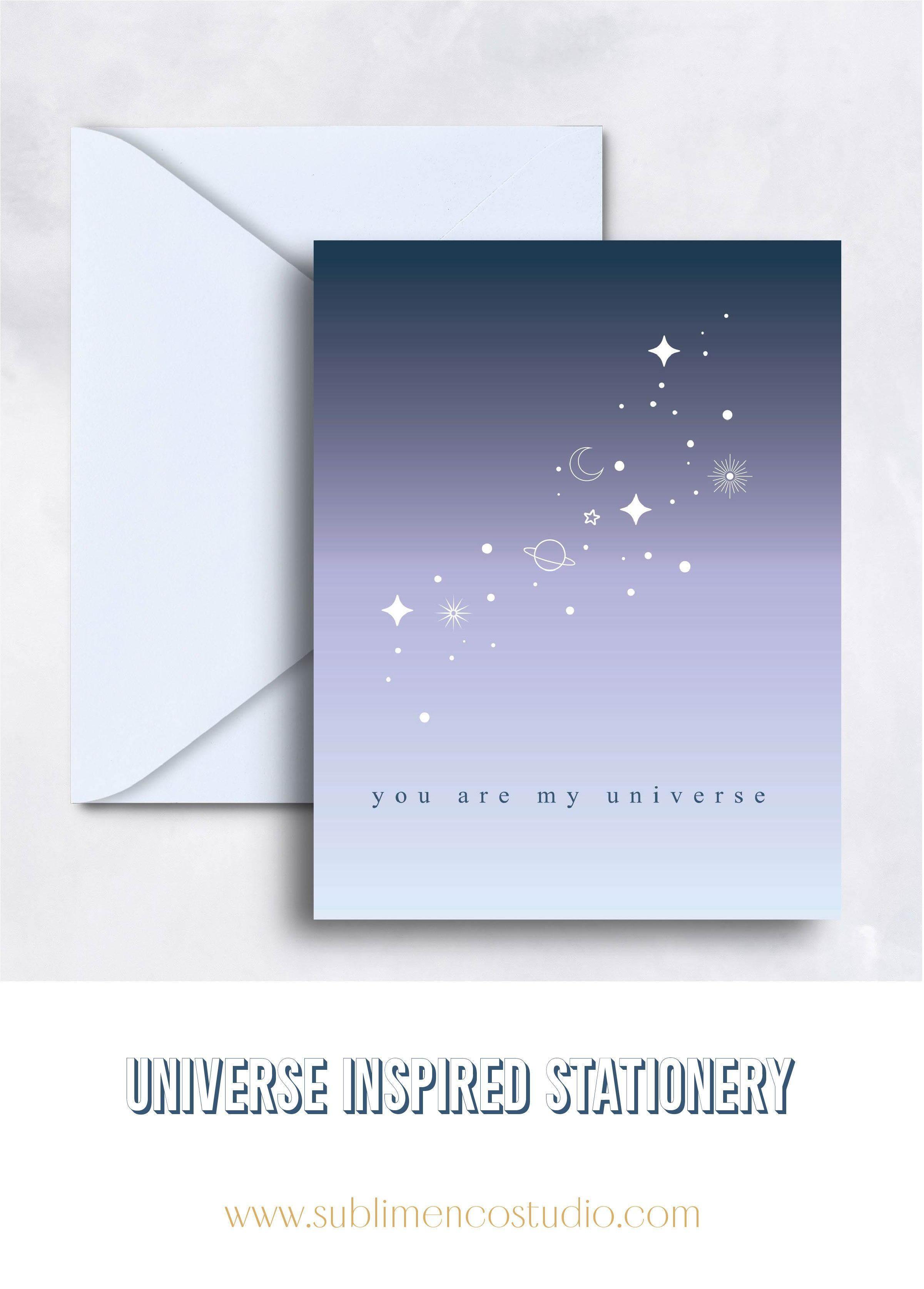 You Are My Universe Greeting Card  Birthday greeting cards, Cards