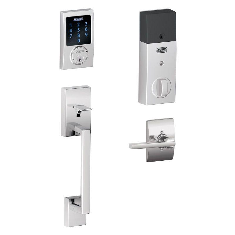 Schlage Connect Fe469 Z Wave Plus Touchscreen Front Entry Lock Schlage Smart Deadbolt Smart Door Locks