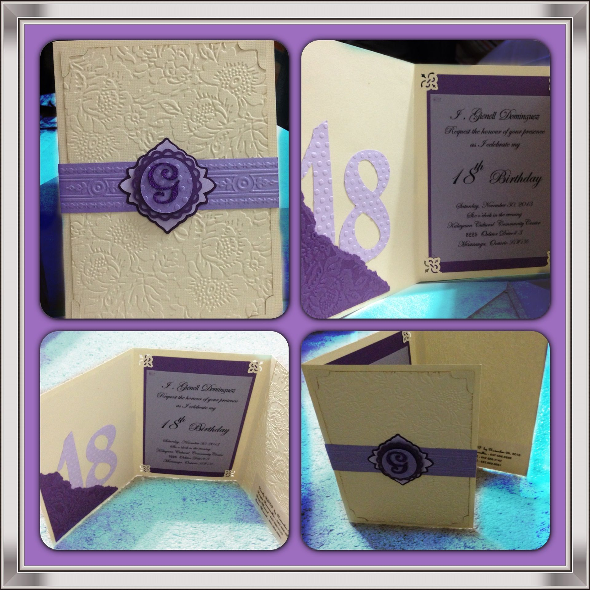 trifold invitation card for 18th birthday my card