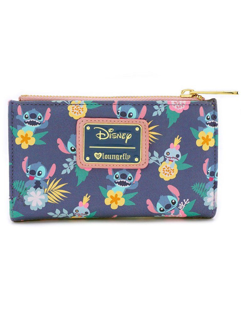 d61b635f164 Loungefly Disney Lilo   Stitch Scrump Doll Floral Bi-Fold ID Wallet –  moodswingsonthenet