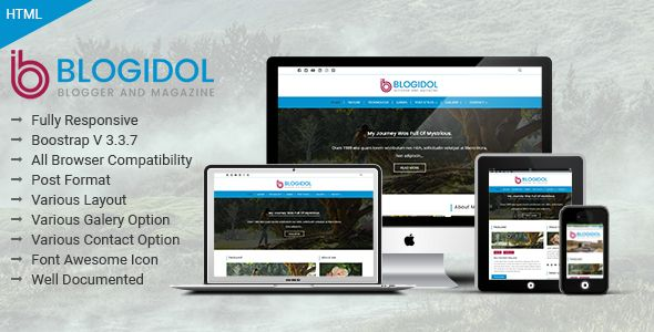 Blogidol responsive blog template blogidol responsive blog blogidol responsive blog template is a full functional multi pages29 templates html template designed developed for any business news or blog website fbccfo Gallery