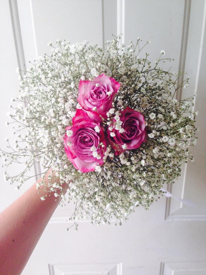 Cbr223 Weddings Riviera Maya Bouquet Baby Breath And Lilac Roses Boda Ramo Rosas Y Nube