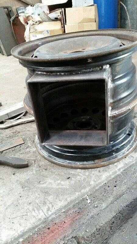 One stove fire box welded barbacoas de carb n y le a en for Estufas artesanales a lena