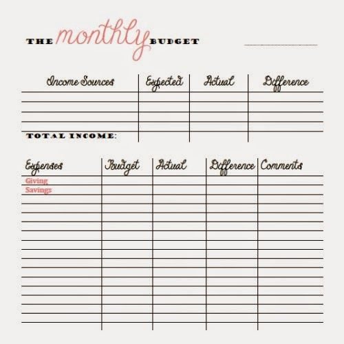 FREE Monthly and Bi-Weekly Budget Printables Money Things