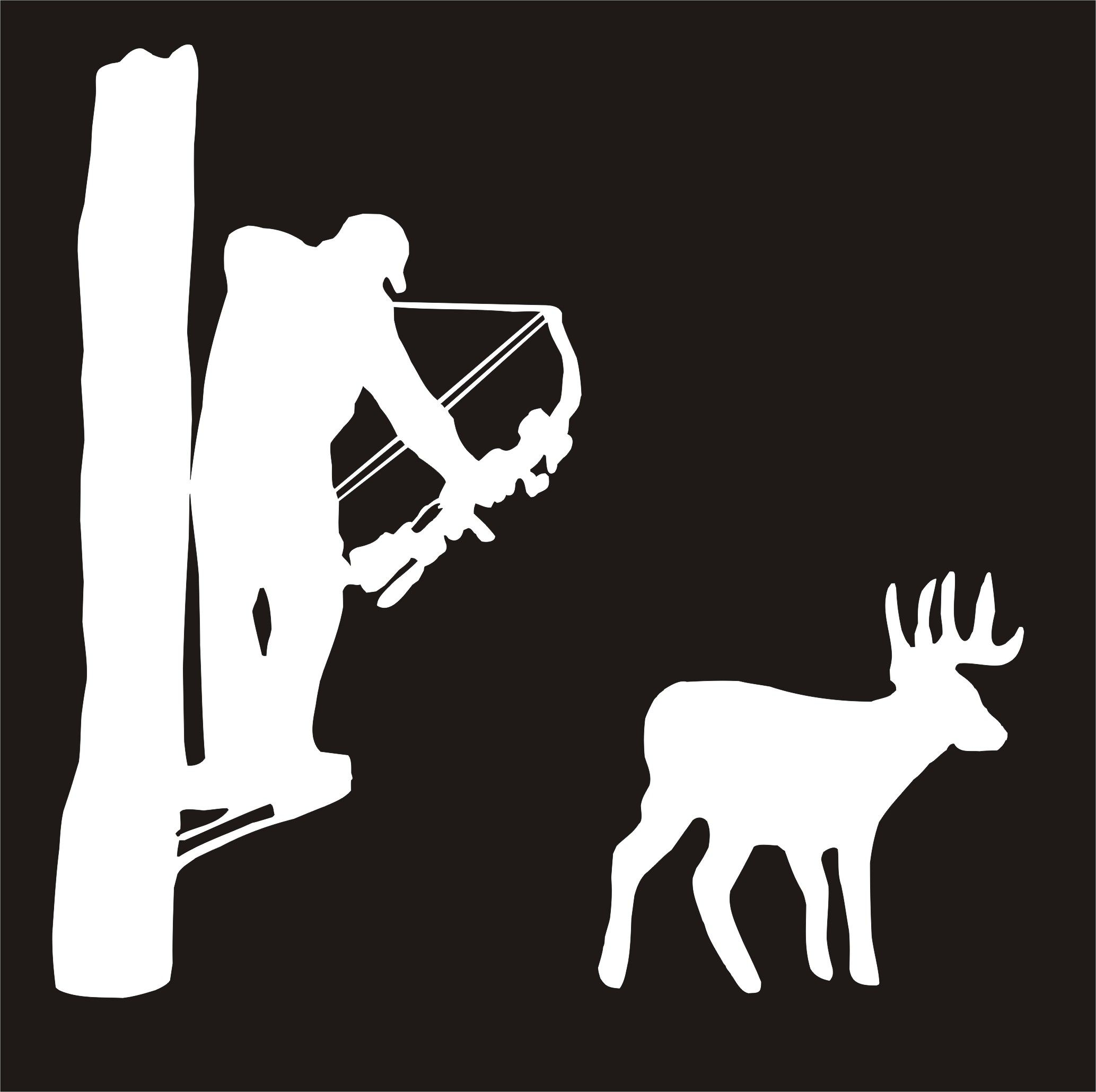 bow treestand and deer.jpg (2067×2059) Tree stencil