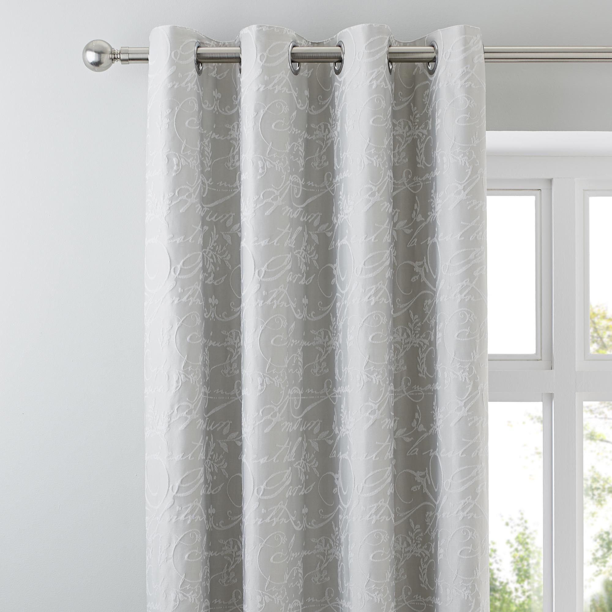 Dunelm Stone Grey 14cm Etienne Thermal Blackout Eyelet Curtains With Images Blackout Eyelet Curtains Curtains Lounge Curtains