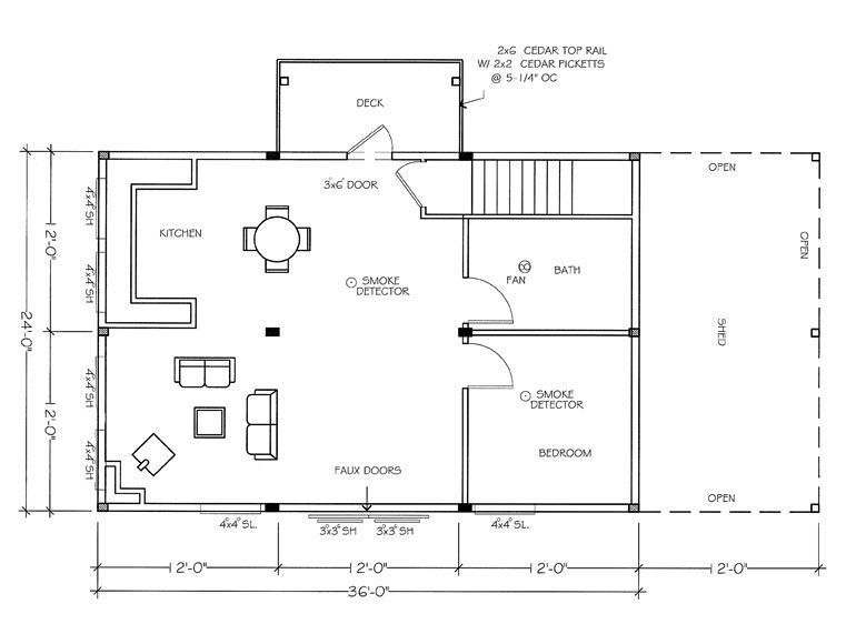 Genial Denali Barn Plans. Apartment Level. Squish It Down And Make Other Half  Artist Loft