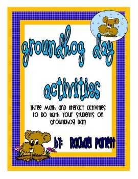 Cute math and literacy activities for Groundhog day!