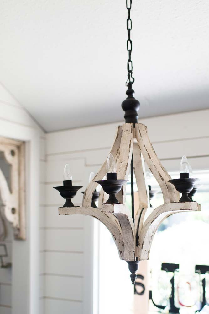 Cottage Wishes Lights Lights Lights For the Home – Distressed Chandeliers