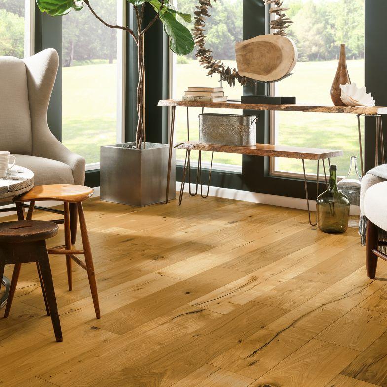 Room Scene for White Oak Engineered Hardwood Deep Etched