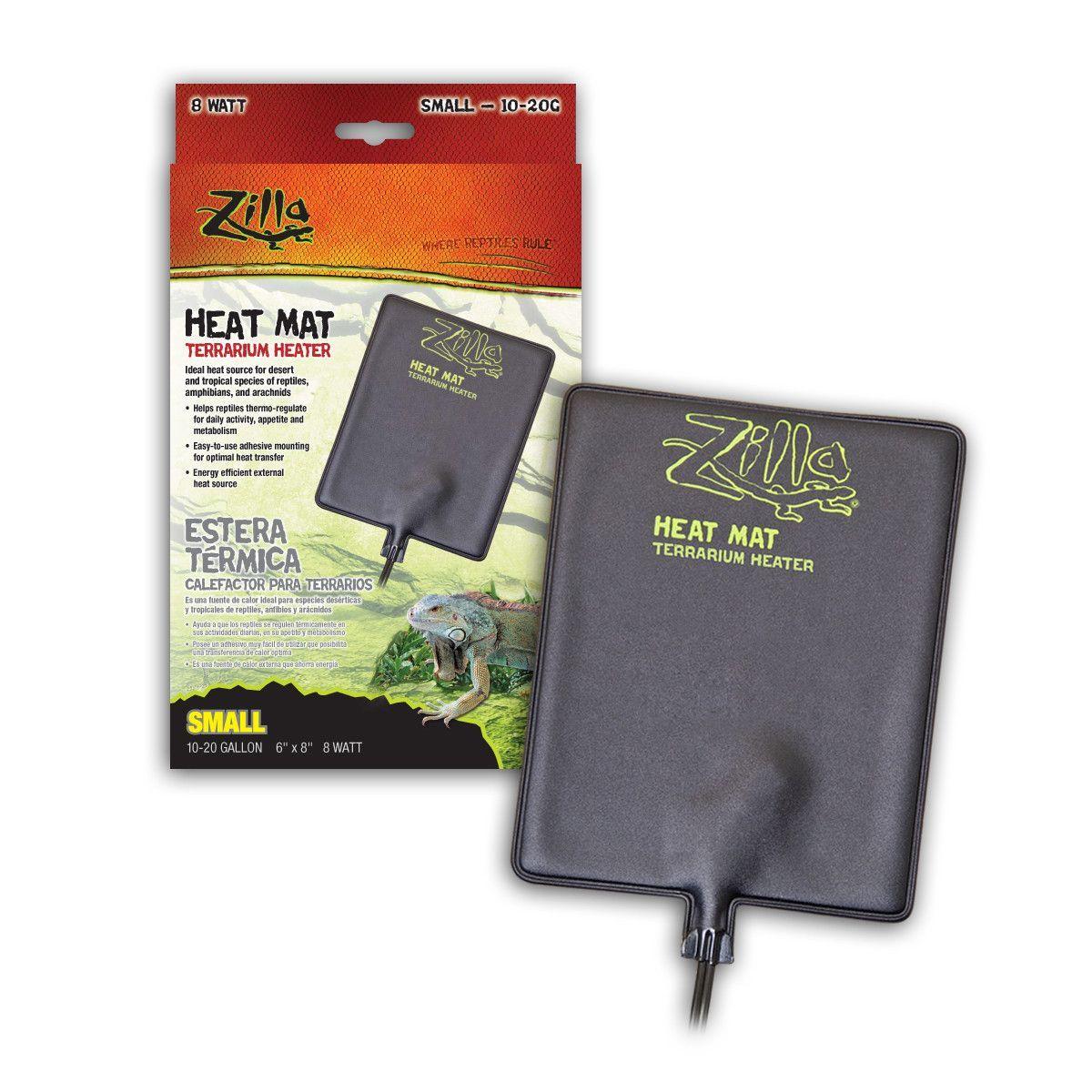 Zilla Terrarium Heater Heat Mat Sz Small Terrarium Reptile Supplies Reptile Terrarium
