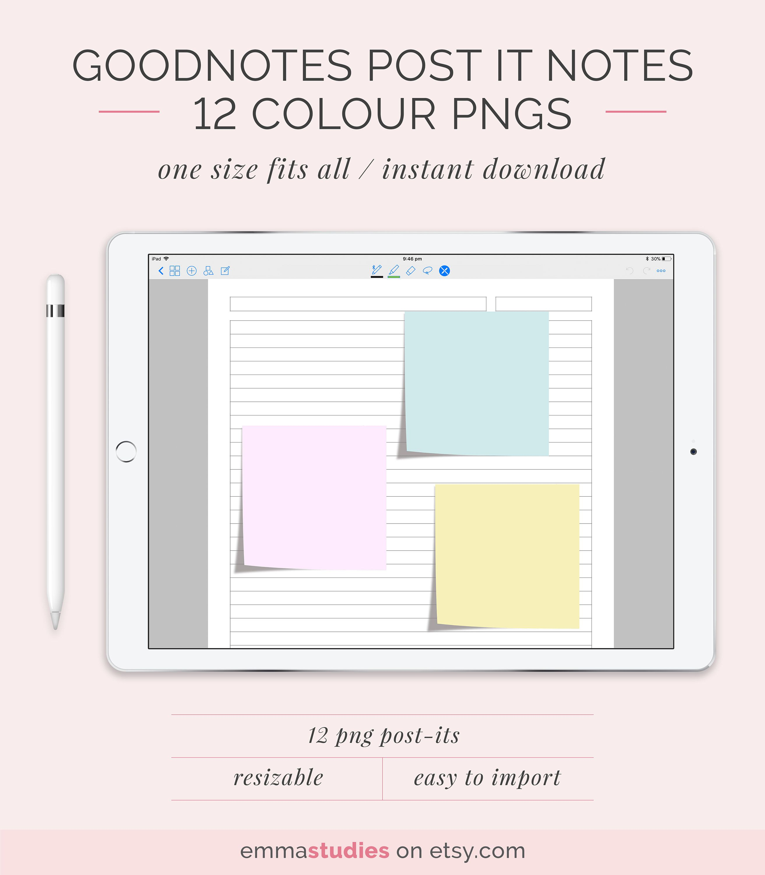 Digital Sticky Note and Page Flag Stickers | GoodNotes