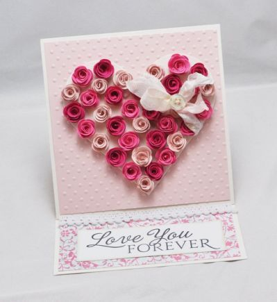 Hand made birthday card for loved quilling cards ideas love valentines also stampin up pinterest rh