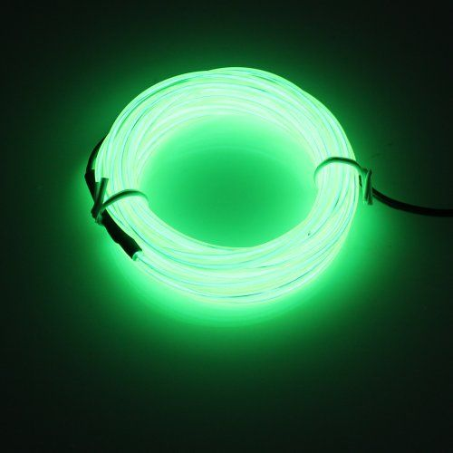 Green Led Light Strips Lerway 5M Rope Led Light Strip El Wire Cable For Festival Day
