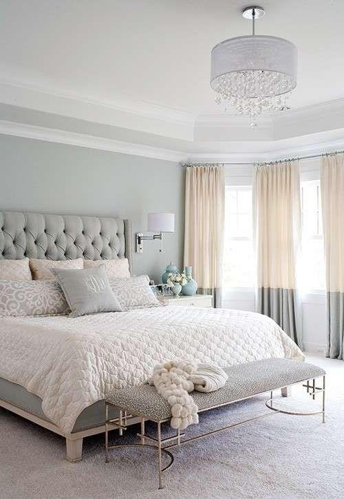 Arredare casa con il grigio - Camera da letto grigio e bianco ...