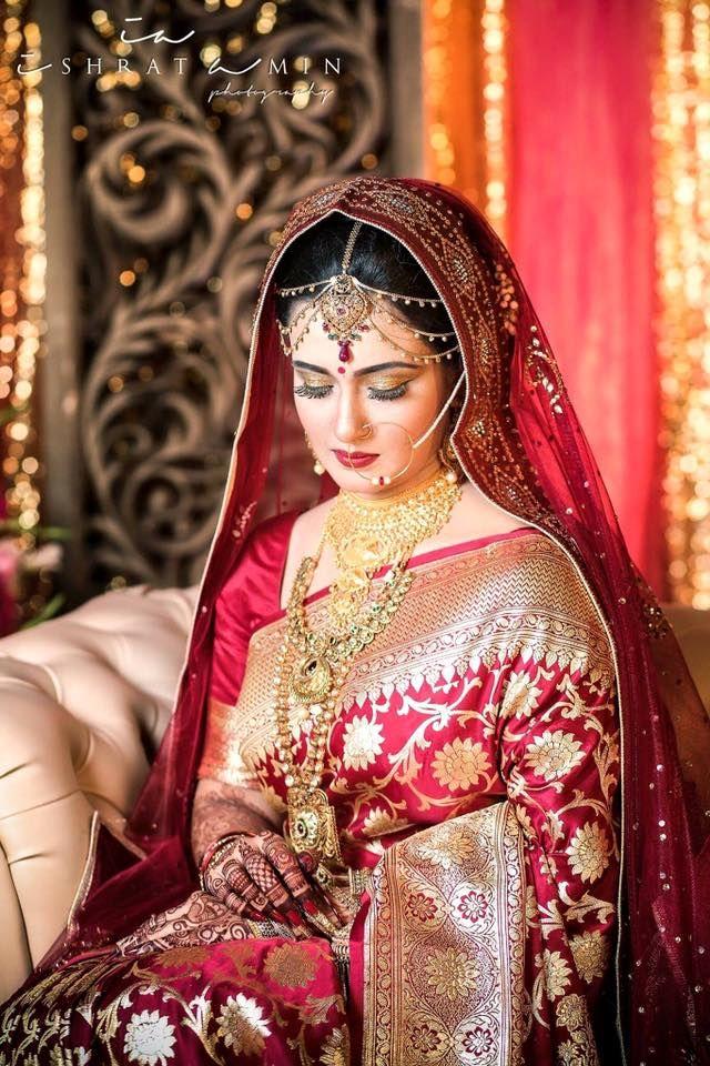 Saree Wedding Pakistani Dresses Bride Wear Portrait Indian Outfits Bridal Jewellery Makeup
