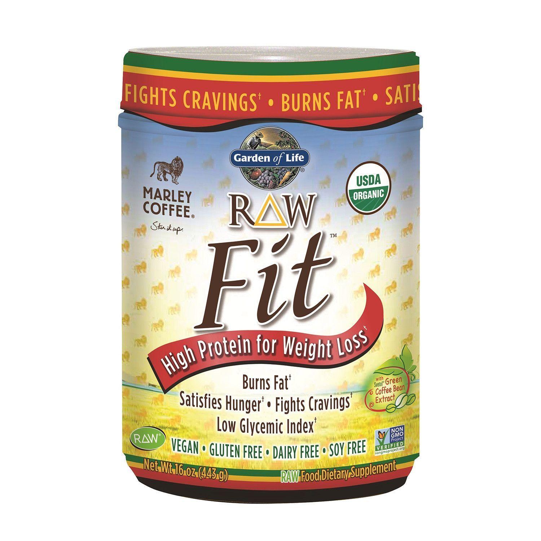 Garden Of Life Raw Fit Protein Marley Coffee 16 Oz 443 G