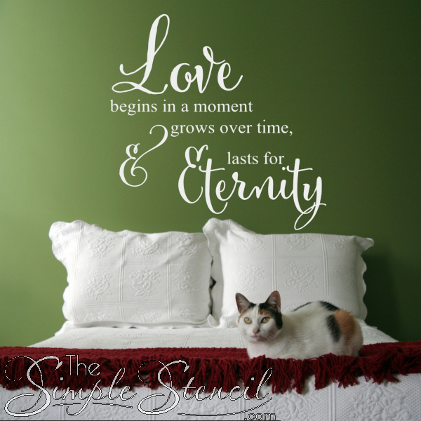 Vinyl Love Quotes Classy A Beautiful Wall Quote To Celebrate The Love You Have Just Begun