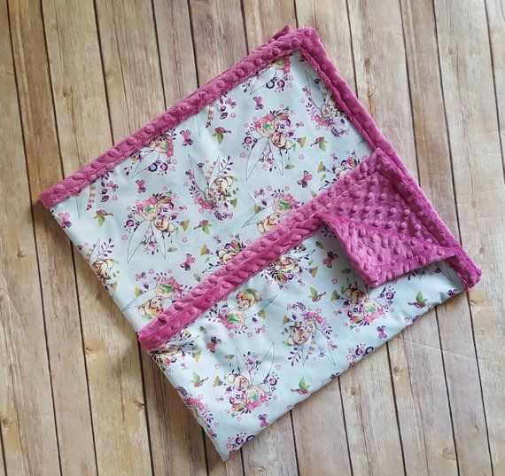23595f85c1d Tinkerbell minky blanket, disney baby blanket, tinkerbell baby ...
