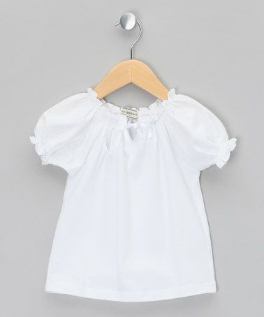 White Cuff Sleeve Top Infant Toddler Girls By Darcy Brown Girls