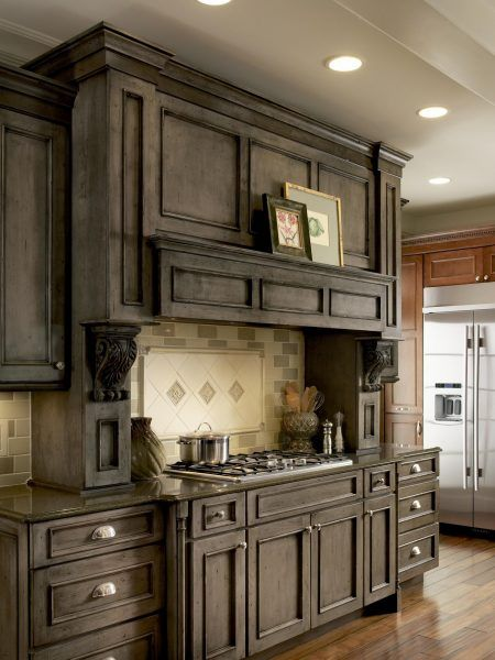 Medallion Cabinetry | Devonshire | Stained kitchen ...