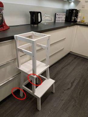 learning tower ikea hack diy ikea hacken kinder kinderzimmer zubeh r und lernturm. Black Bedroom Furniture Sets. Home Design Ideas