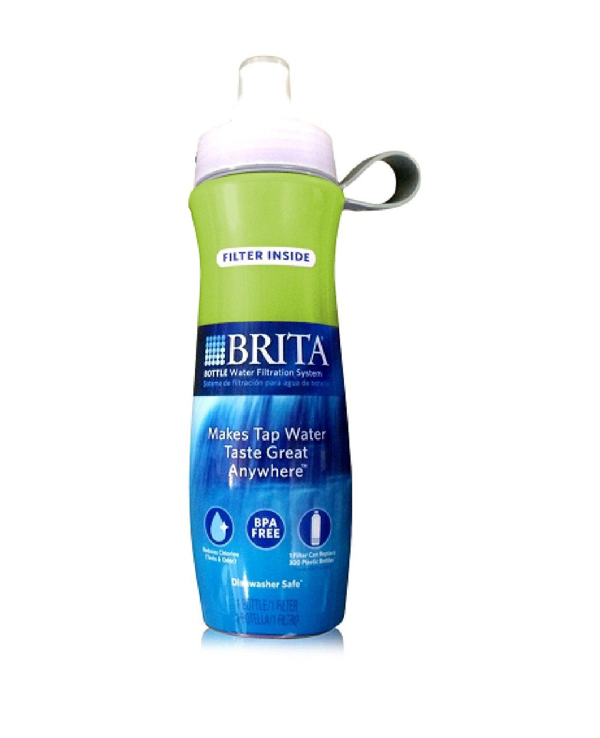 Brita sport water filter bottle twin pack navy blue and