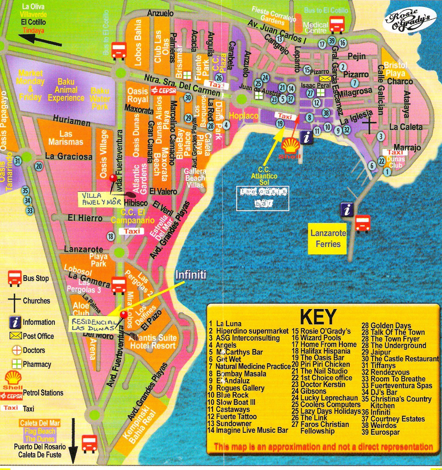 Map Of Corralejo Corralejo, Fuerteventura   | Around world | Canary islands