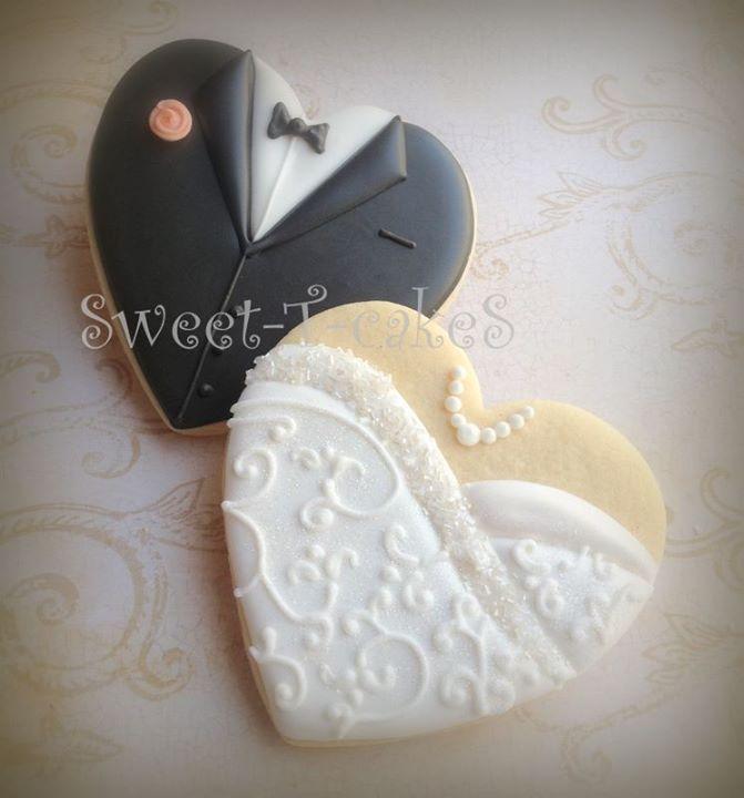Bride And Groom Wedding Cookies Wedding Favors Pinte