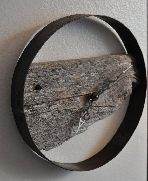 Rustikale Wanduhr rustic barn wood wall clock scheunen wanduhren und rustikal