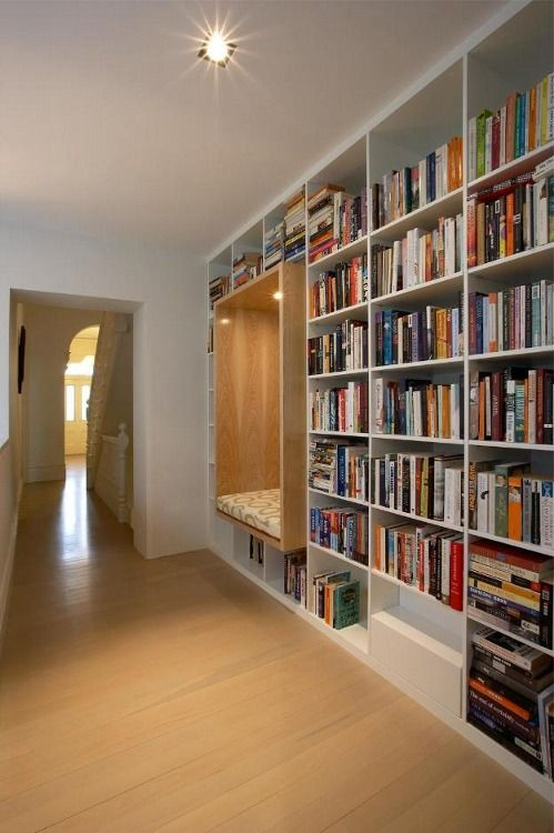 love the creatively placed reading nook in this book case living rh pinterest com