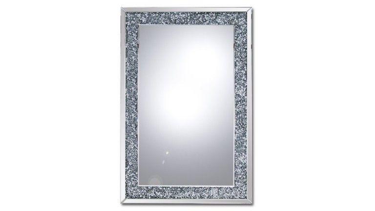 Miroir rectangulaire cadre strass manihi pas cher prix for Cadre interieur deco