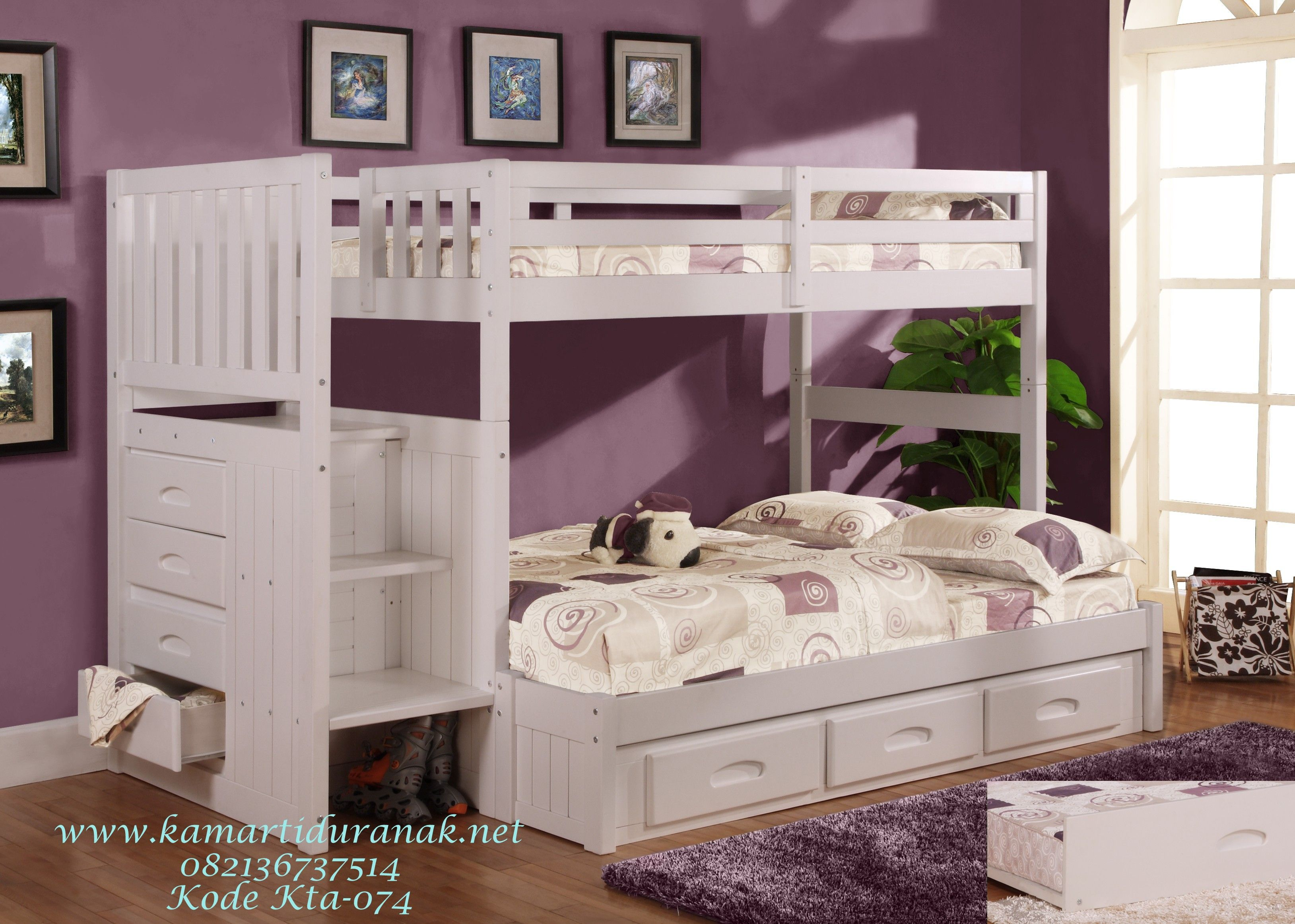 Discovery World Furniture White Twin Full Staircase Bunk Bed 0214 And Stair  Stepper Bunk Beds For Kids With Matching Bedroom Furniture.
