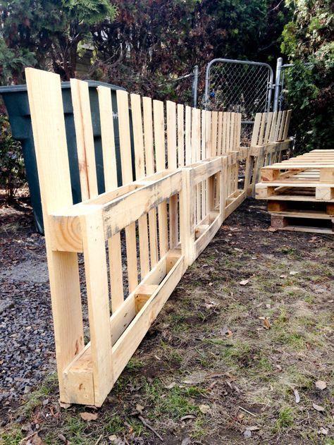 Paletten Zaun Basteln Pallet Fence Wood Pallet Fence Und Pallet