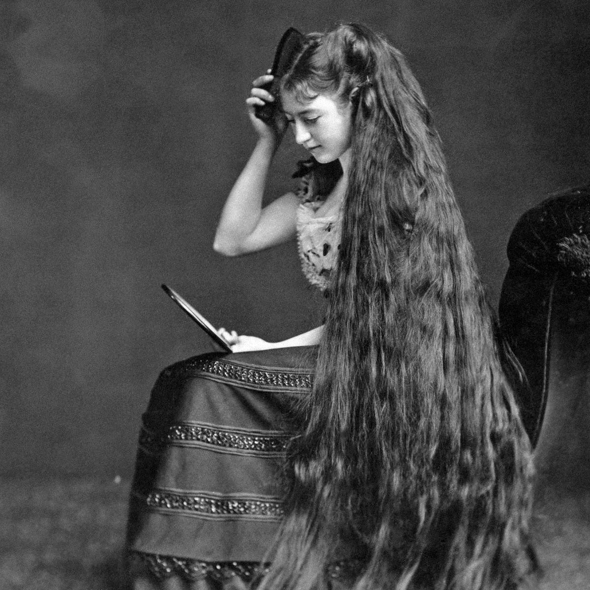 Retronaut On Vintage Lange Haare Viktorianische Frisuren Und Vintage Portrat