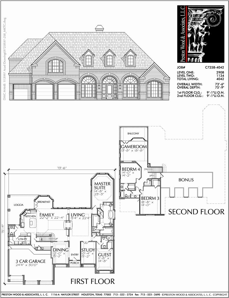 6500 Sq Ft House Plans Fresh Two Story House Plan C7258 In 2020 Two Story House Plans Accessible House Plans House Plans