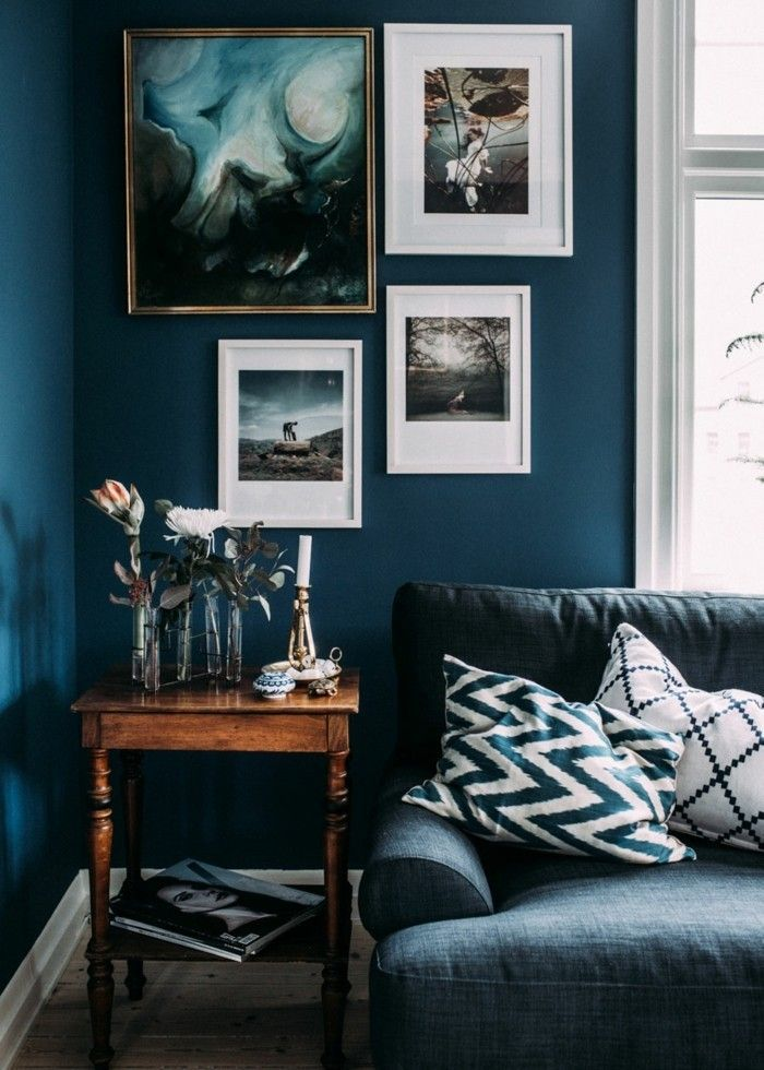 Wandfarbe Petrol - 56 Ideen für mehr Farbe im Interieur #paintinglivingrooms