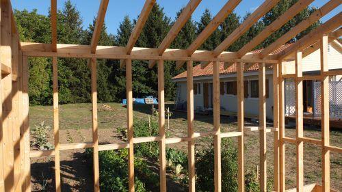 Autoconstruction abri de jardin ou Chalet en ossature bois - Autoconstruction maison en ossature ...