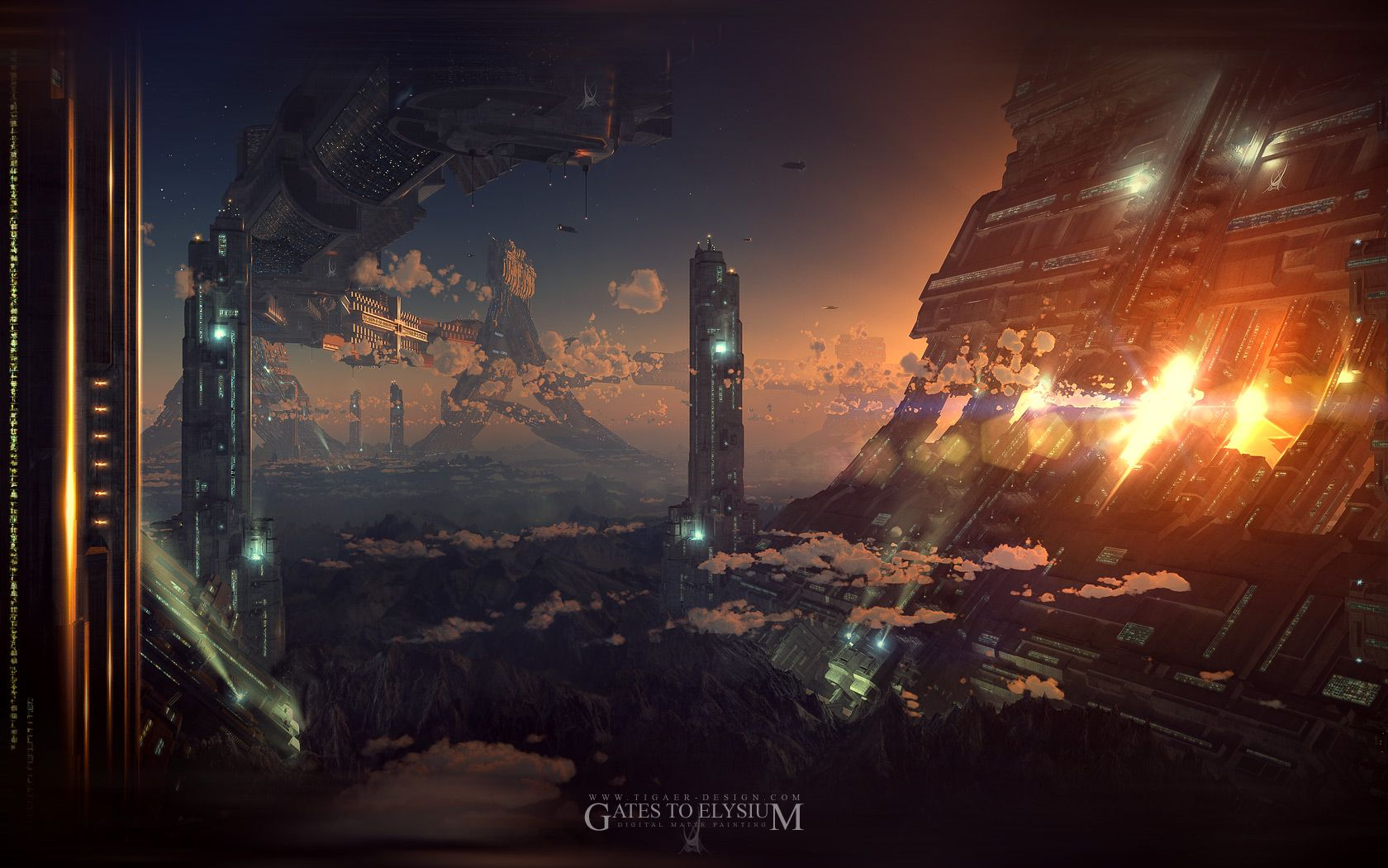 Http V5 Tigaer Design Com Gallery Painting Gte 1680 Jpg Sci Fi Wallpaper Futuristic City City Artwork