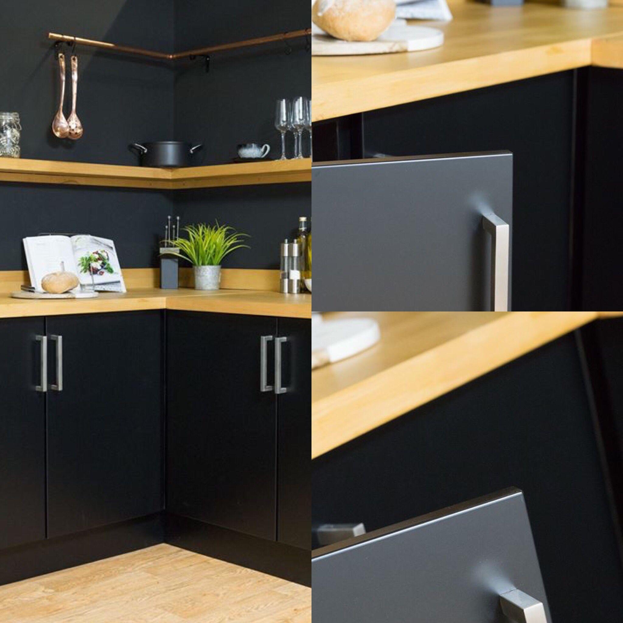 67 5cm X 2m D C Fix Matt Black Sticky Back Plastic Vinyl Wrap Film 346 8091 Kitchen Inspiration Design Kitchen Vinyl Dc Fix Kitchen